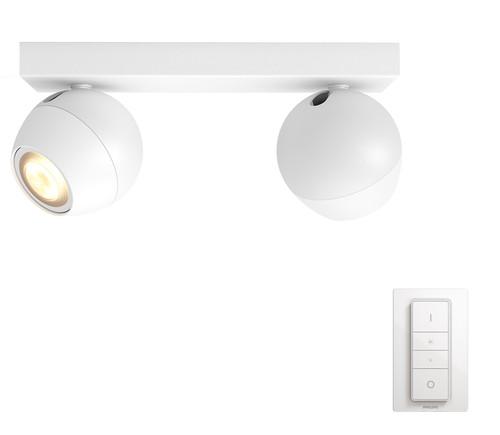 Philips Hue Buckram Mounted Spot White Ambiance 2 Lights White Bluetooth Main Image
