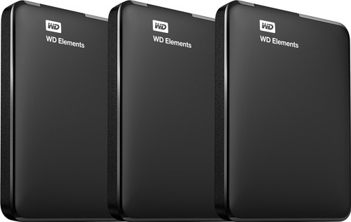 WD Elements Portable 2TB 3-Pack Main Image