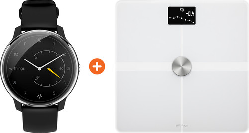 Withings Move ECG Zilver/Zwart + Withings Body + Wit Main Image