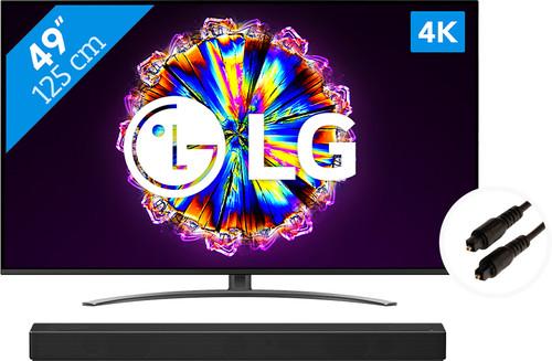 LG 49NANO816NA (2020) + Soundbar + Optical cable Main Image