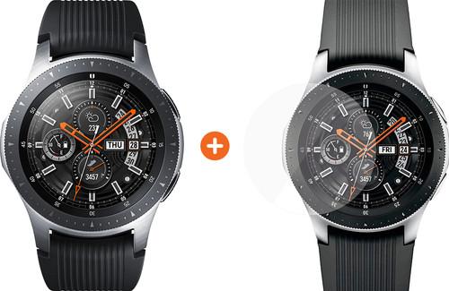 Samsung Galaxy Watch 46mm Silver + PanzerGlass Samsung Galaxy Watch 46mm Screen Protector Main Image