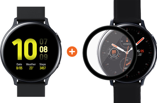 Samsung Galaxy Watch Active2 Black 44mm Aluminum + PanzerGlass Samsung Galaxy Watch Active Main Image