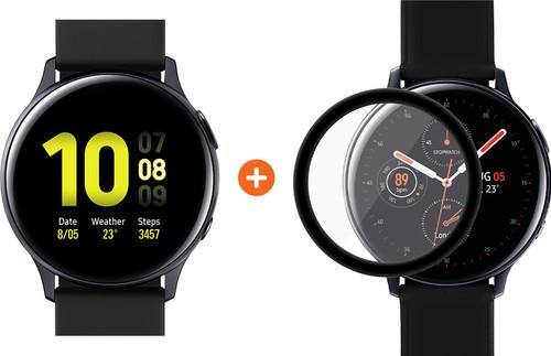 Samsung Galaxy Watch Active2 Zwart 40 mm Aluminium + PanzerGlass Samsung Galaxy Watch Acti Main Image