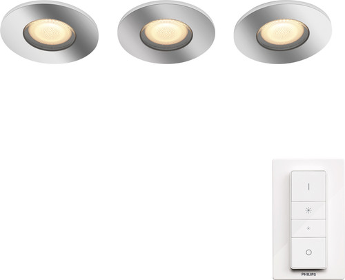 Philips Hue Adore badkamerinbouwspot White Ambiance 3-pack + dimmer Main Image