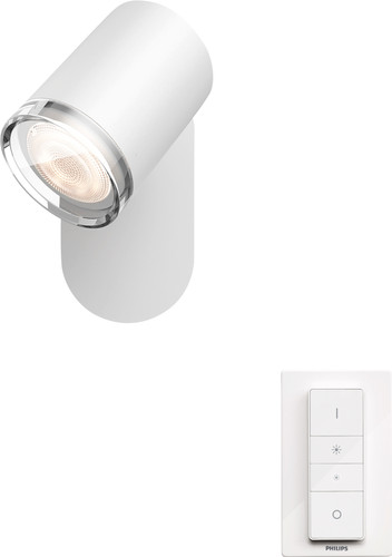 Philips Hue Adore Mounted Spot Bathroom White Ambiance 1 Light White Main Image