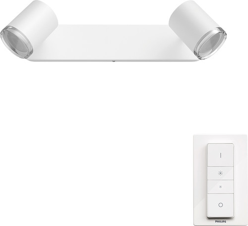 Philips Hue Adore Mounted Spot Bathroom White Ambiance 2 Lights White Main Image