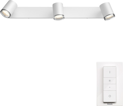 Philips Hue Adore Bathroom Recessed Spot Light White Ambiance 3-lichts White - Bar Main Image