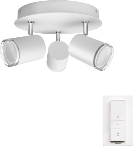 Philips Hue Adore badkameropbouwspot White Ambiance 3-lichts Wit - rond Main Image