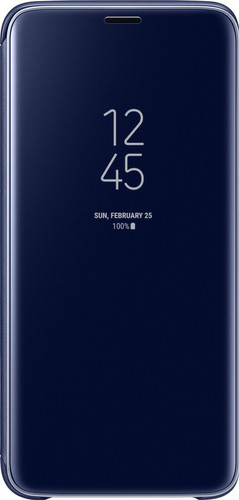 Samsung Galaxy S9 Plus Clear Stand View Cover Blauw Main Image