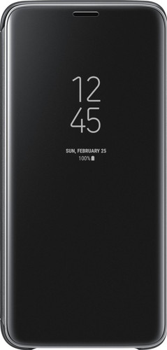 Samsung Galaxy S9 Plus Clear Stand View Cover Zwart Main Image