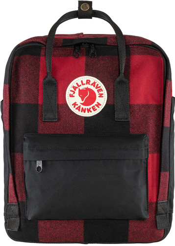 Fjällräven Kånken Re-Wool Red-Black 16L Main Image