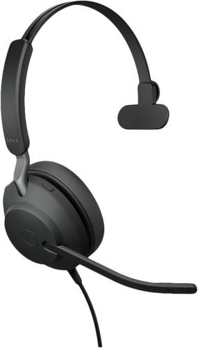 Jabra Evolve2 40 MS Mono USB-A Headset Black Main Image