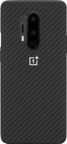 OnePlus 8 Pro Karbon Bumper Back Cover Zwart Main Image