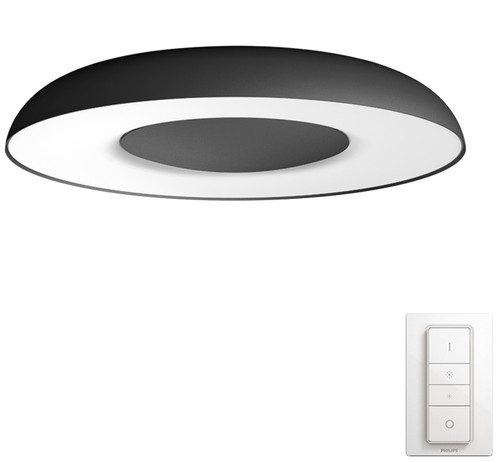 Philips Hue Still Ceiling Lamp White Ambiance Black Main Image