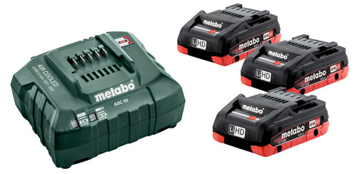 Metabo 18V 4.0Ah battery (3x) + Battery Charger Main Image