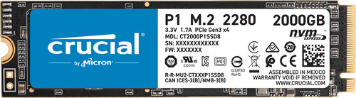 Crucial P1 SSD 2 TB Main Image