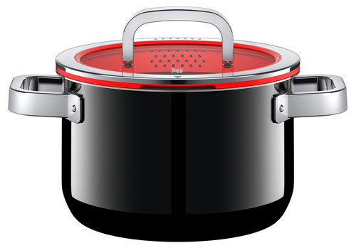 WMF FusionTec Functional Cooking Pot 20cm + lid Black Main Image