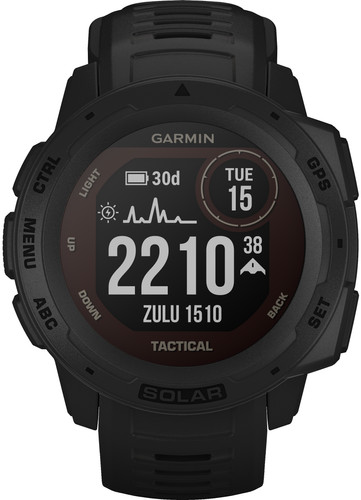 Garmin Instinct Solar Tactical Zwart Main Image