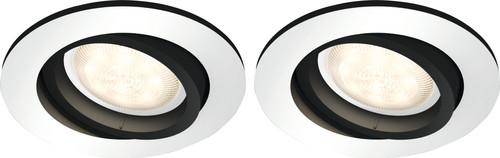 Philips Hue Milliskin inbouwspot White Ambiance Aluminium - rond Duo Pack Main Image