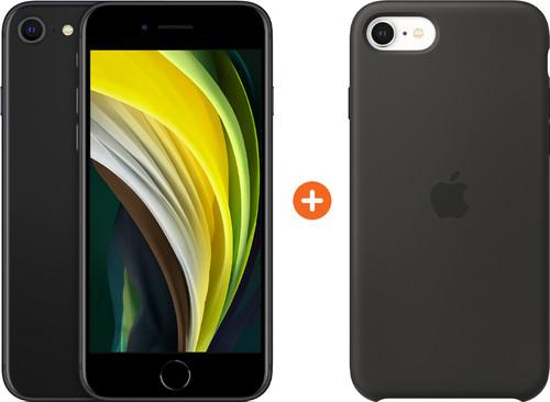 Apple iPhone SE 2 64 GB Zwart + Apple iPhone SE Silicone Back Cover Zwart Main Image