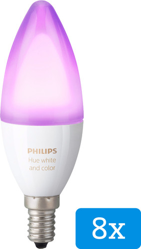 Philips Hue White and Color E14 8-Pack Main Image