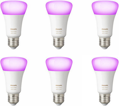 Philips Hue White and Color E27 Bluetooth 6-Pack Main Image