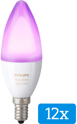 Philips Hue White and Color E14 12-Pack Main Image