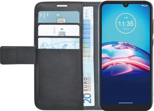 Azuri Wallet Motorola Moto E6s Book Case Zwart Main Image