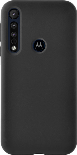 Azuri Motorola One Macro Back Cover Siliconen Zwart Main Image