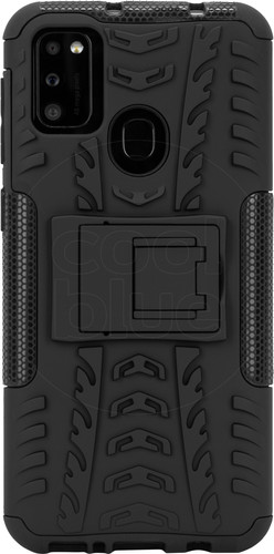 Just in Case Rugged Samsung Galaxy M21 Back Cover Zwart Main Image
