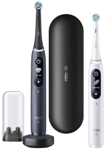 Oral-B iO - 8n - Electric Toothbrushes White and Black Duo Pack Main Image