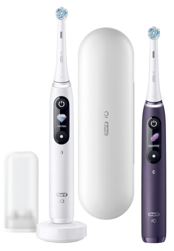 Oral-B iO - 8n - Elektrische Tandenborstels Wit En Paars, Duopack Main Image