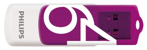 Philips FM64FD05D - USB 2.0 64GB - Vivid - Purple - 2 units Main Image