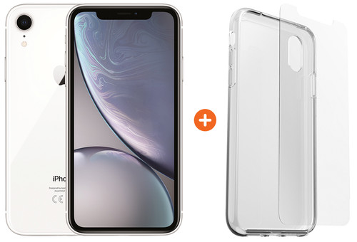 Apple iPhone Xr 128GB White + Otterbox Clearly Protected Skin Alpha Glass Main Image