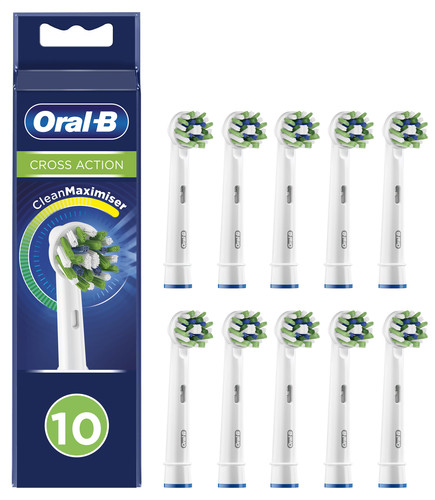 Oral-B CrossAction Opzetborstel 10 Stuks Main Image