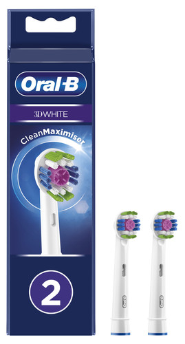Oral-B 3D White Opzetborstel 2 Stuks Main Image