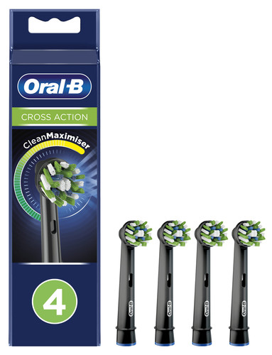 Oral-B CrossAction Black Edition Opzetborstel 4 Stuks Main Image