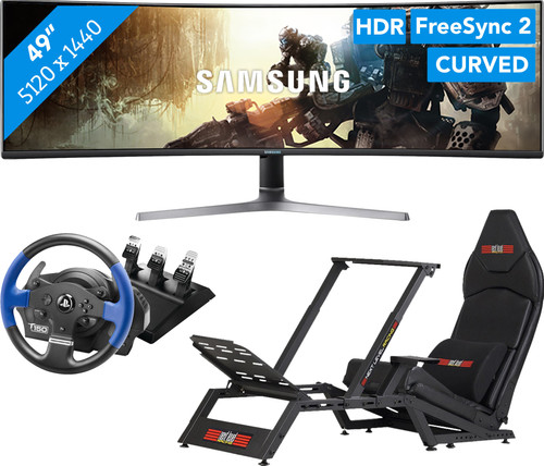 Samsung LC49RG90SSUXEN + F-GT Racing Cockpit + Thrustmaster T150 RS Pro Racing Wheel Main Image