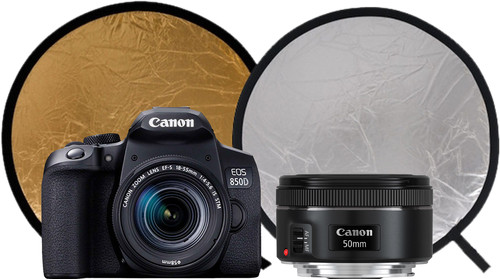 Canon EOS 850D + EF-S 18-55mm f/3.5-5.6 IS STM + EF 50mm f/1.8 USM Main Image