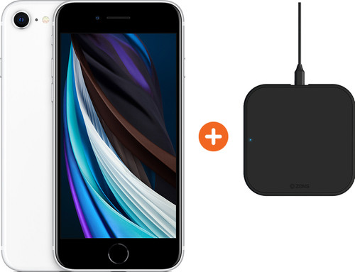 Apple iPhone SE 128 GB Wit + ZENS Slim Line Draadloze Oplader Main Image