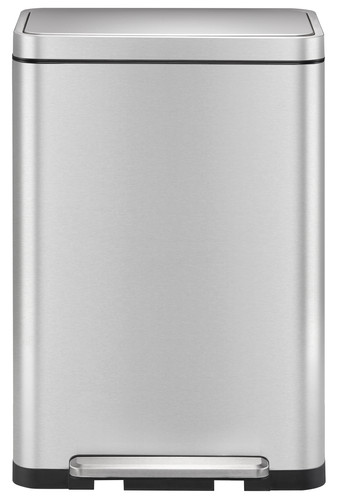 EKO X-Cube Pedal Trash Can 45L Matte Stainless Steel Main Image