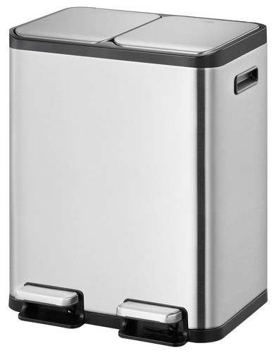 EKO EcoCasa II Splitted Trash Can 2x 30L Matte Stainless Steel Main Image