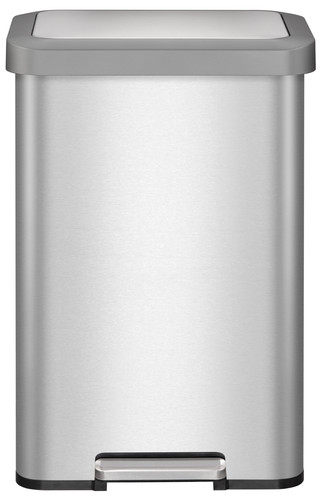 EKO Cozy Pedal Trash Can 45L Matte Stainless Steel Main Image