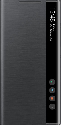 Samsung Galaxy Note 20 Ultra Clear View Book Case Zwart Main Image