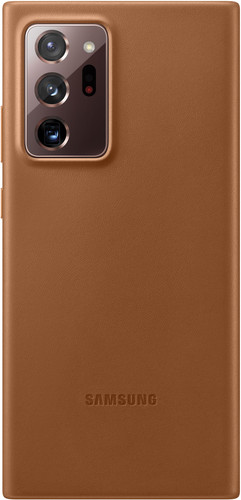 Samsung Galaxy Note 20 Ultra Back Cover Leer Bruin Main Image
