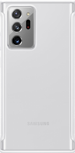 Samsung Galaxy Note 20 Ultra Clear Protective Back Cover Witte Rand Main Image