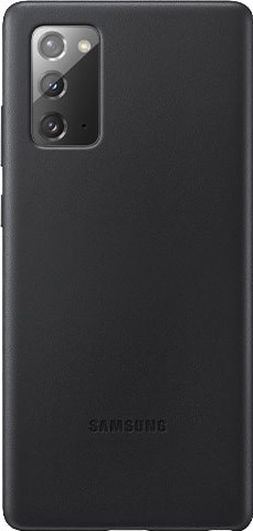 Samsung Galaxy Note 20 Back Cover Leer Zwart Main Image