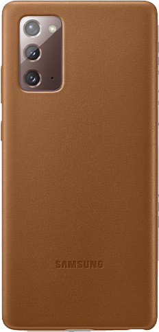 Samsung Galaxy Note 20 Back Cover Leer Bruin Main Image