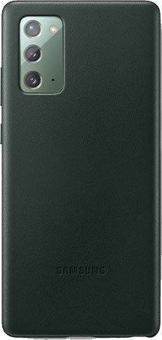 Samsung Galaxy Note 20 Back Cover Leer Groen Main Image