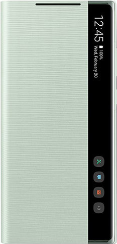 Samsung Galaxy Note 20 Clear View Book Case Groen Main Image